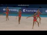 Сборная Испании, булавы. Чемпионат Европы 2014, Баку (Азербайджан).
